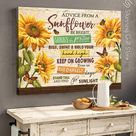 Sunflower Wall Decor Motivational Wall Art Stand Tall And Find The Sunlight - Wrapped Canvas / 20x24 inches