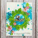 Tropical Watercolour Handmade Birthday Card