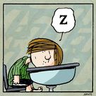 At school with Peppermint Patty