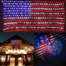 MeAddHome American Flag LED String Lights Outdoor Lights Waterproof Hanging Ornaments For Independence Day Festival Decorations - Walmart.com