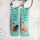 Handcrafted bookmarks, animal bookmarks,gifts for book lovers,foxes, paw print, colorful page savers, stocking stuffers, teacher gifts