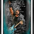 Set of 2 Stunning Dave Grohl Foo Fighters Digital Prints