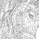 Horse Coloring book 44 Page For Download Printable Adult Coloring book Clip Art Hand Drawn Original Zentangle Colouring Doodle art Picture