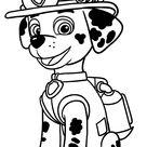 Marshall (Paw Patrol) coloring page