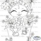 DESCARGA INSTANTÁNEA Digital Digi Sellos Big Eye Big Head Dolls Digi Fairy Kitty IMG373 Garden Flower Bestie Daisy Ann Por Sherri Baldy