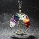 Natural Stones Tree Of Life Necklace - Root Tree