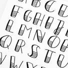 Luloveshandmade-ArtNight-Handlettering-Workshop-Alphabet - Luloveshandmade