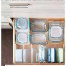 plastic drawer organization