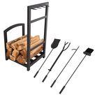 Hastings Home Black Fireplace Tool Set & Rack | Michaels®