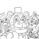 Five Nights at Freddy's All Characters coloring page   Free Printable Coloring Pages