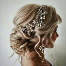 Bridal Hair Vine Wedding Rose Gold Hair Piece Pearl Silver Wedding Hair Accessory Bridal Hair Piece Vine Jewellery Long Hair Vine Bridal