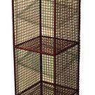 4 Tier Square Shelf Unit Red