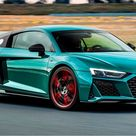 Car review 2021 AUDI R8 V10 green hell edition - limited spec of the supercar