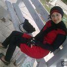 Arabic Girl in Red Dress