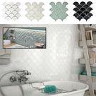 Fächer Mosaik Fliese Keramik BAD DUSCHE WANNE Fliesenspiegel Küche - FOGGIA  | eBay