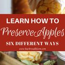 Canned Apples Recipes