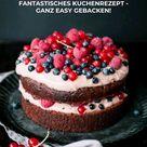 Köstliche Brownie Torte 😍 mit frischen Sommer Beeren und Kakaocreme!
