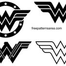 Wonder Woman Logo Symbol and Silhouette Vector   FreePatternsArea
