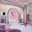 Retro Futurism Flourishes in a Dressing Room from Patricia Bustos