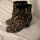 Michael Kors Shoes   Black / Leopard Women's Margaret Calf Hair Ankle Boots Boot, Black/Leopard, Size 8   Tradesy