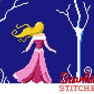 Little Mermaid PDF Pattern  Modern Cross Stitch  Instant   Etsy