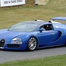 Print of Bugatti Veyron Grand Sport blue 2009 Goodwood FOS 09
