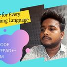 02 Best Text Editor  For Coding for any programming language with Anurag in Hindi