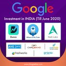 Google's Investment in the Indian avenues where Google has already invested.