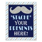 Stache Your Presents Here • 8 x10 Mustache Print