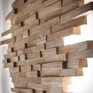 Wooden wall lamp / Wooden wall lamp / Wall lamp / Indirect lighting / Wood / Oak / LED / Design / Contemporary / 230 V / Picture