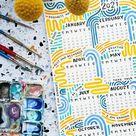 DOWNLOAD 2021 Colorful Optimism Calendar Printable