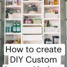 How to create DIY Custom Pantry Shelves