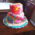 Luau Birthday Cakes