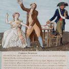 Camille and Lucile Desmoulins during Camille's arrest.