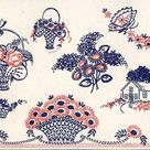Roses & Flowers in Baskets for Pillows Towels and Scarfs Vtg Hand Embroidery 121 PATTERN a PDF instant download