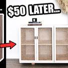 EXTREME $50 IKEA KALLAX HACK   DIY faux cane doors?! 😱🔨wait what