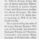 Obituary for JAMES G. WILSON (Aged 86) - Newspapers.com