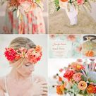 2016 Spring Wedding Color Trends Chapter TwoStunning Peach Wedding Color Palettes   Elegantweddinginvites.com Blog