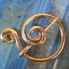 Spiral Fibula Brooch | Etsy