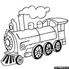 Train and Locomotive Online Coloring Pages