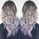 """Kacie Nguyen on Instagram: """"We came a long way.. 3 balayage and 1 babylight later. Silver ash and lilac tips! She's super brave to let me put a hint of lilac on her…"""""""