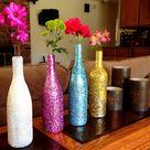 Glitter Wine Bottles