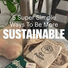 5 Easy Ways To Be More Sustainable