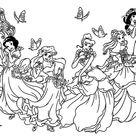 Toutes les princesses disney   Coloriages Retour en enfance   Just Color