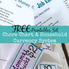 Chore Chart & Household Currency System FREE Printable Set