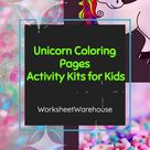 Unicorn Activity Pack I Coloring Pages for Kids I Toddler Learning Worksheets