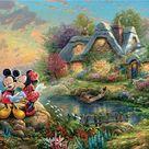Cartoon mouse in love 5D diamond painting square\round full diamond mosaic DIY decorative painting M
