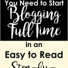 This blogging plan will get you up and running quickly, so that you can start earning a full-time blog income in 12 months or less. #blogging #plan #FinancialFreedom #sidehustle #middleschoolmama #tips #tricks