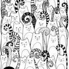 Cats nemen Giclee Fine Art Print van Jessica Wilde over