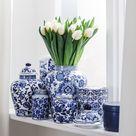 Kleine vaas met deksel Annabelle van porselein | WestwingNow